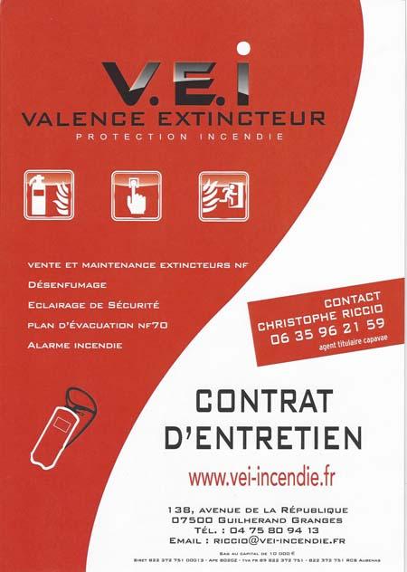 Contrat d'entretien extincteurs