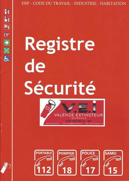 Registre de sécurité de vos extincteurs